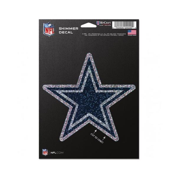 Dallas Cowboys Perfect Cut Shimmer Decal