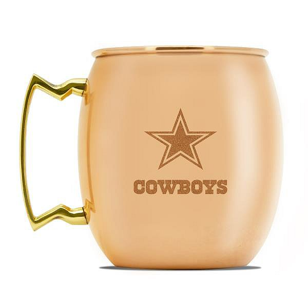 Dallas Cowboys 24 oz Copper Moscow Mule Mug
