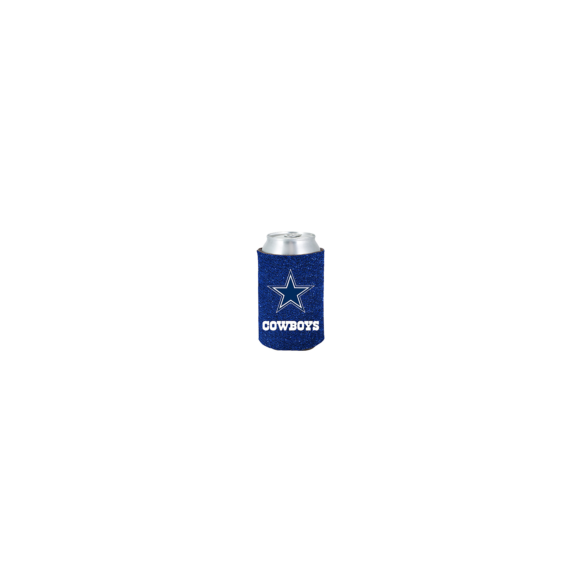 Dallas Cowboys Blue Glitter Can Cooler