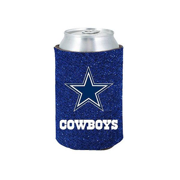 Dallas Cowboys Blue Glitter Can Cooler