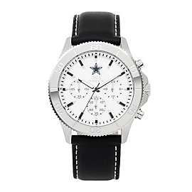 Dallas Cowboys Jack Mason Men's Chrono Leather Watch