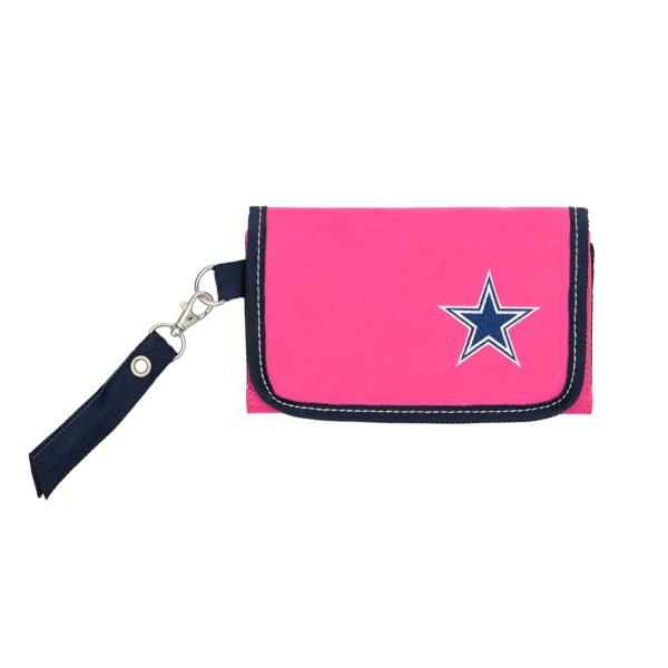 Dallas Cowboys Pink Ribbon Organizer Wallet