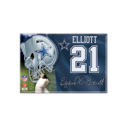 Dallas Cowboys Ezekiel Elliott Player Magnet | Kitchen | Home U0026 Office |  Accessories | Cowboys Catalog | Dallas Cowboys Pro Shop