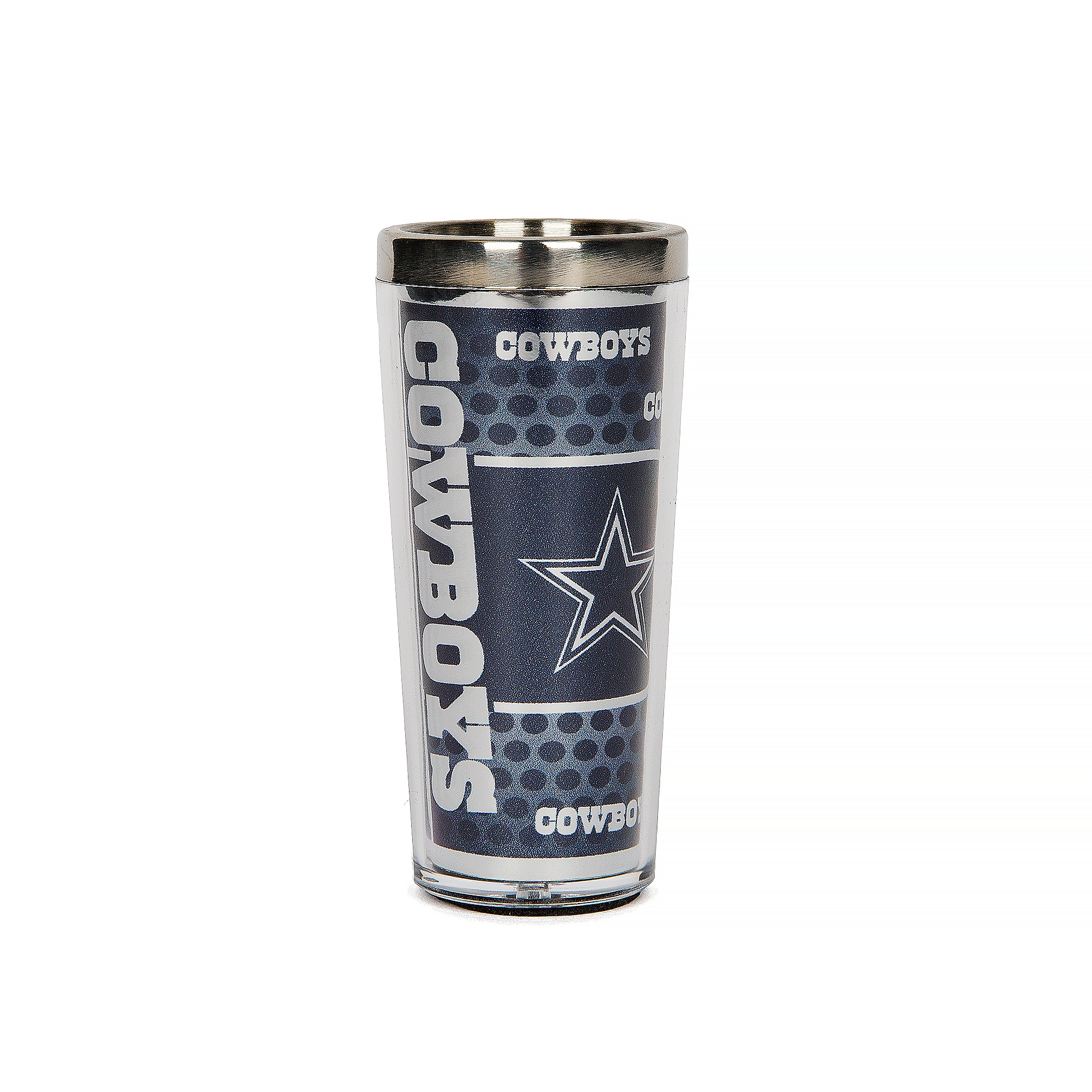 Dallas Cowboys 3 oz. Metallic Shot Glass