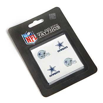 Dallas Cowboys 4-Pack Tattoo Set