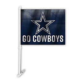 Dallas Cowboys Go Car Flag
