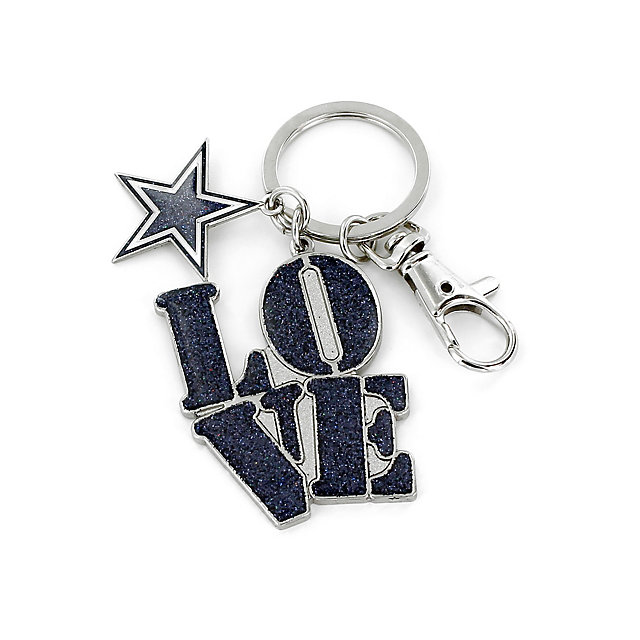 Dallas Cowboys Love Star Keyring