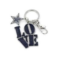 Dallas Cowboys Love Star Keyring