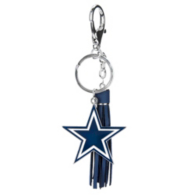 Dallas Cowboys Star Tassel Keyring