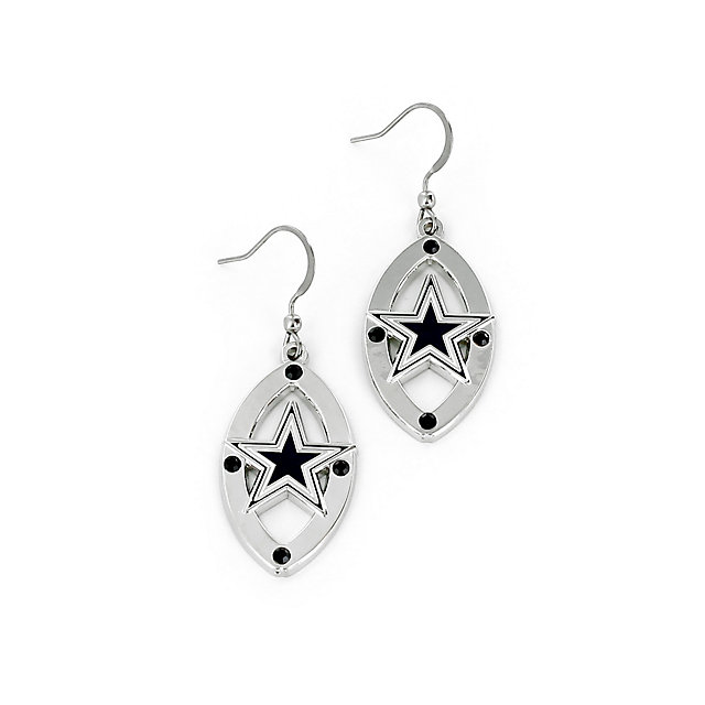 Dallas Cowboys Oval Star Earrings