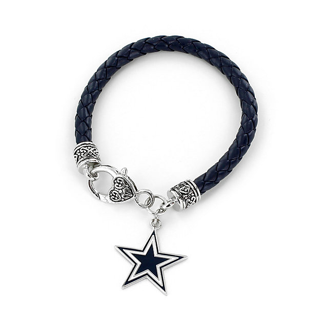 Dallas Cowboys Navy Braided Chord Bracelet