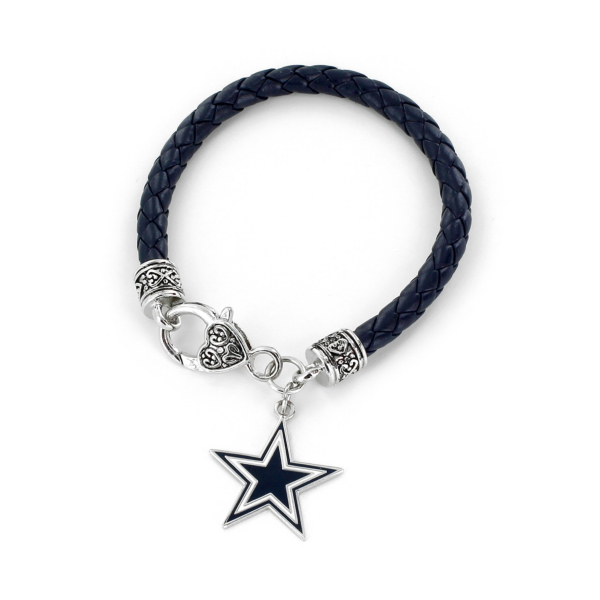 Dallas Cowboys Navy Braided Chord Bracelet