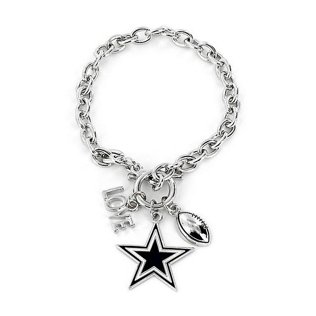 dallas cowboys love charm bracelet jewelry accessories. Black Bedroom Furniture Sets. Home Design Ideas