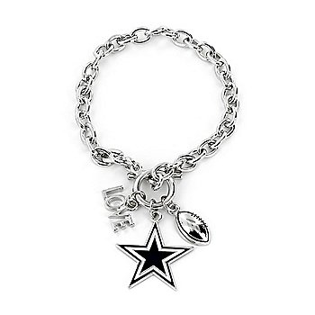 Dallas Cowboys Love Charm Bracelet