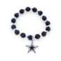 Dallas Cowboys Navy Pebble Bead Bracelet