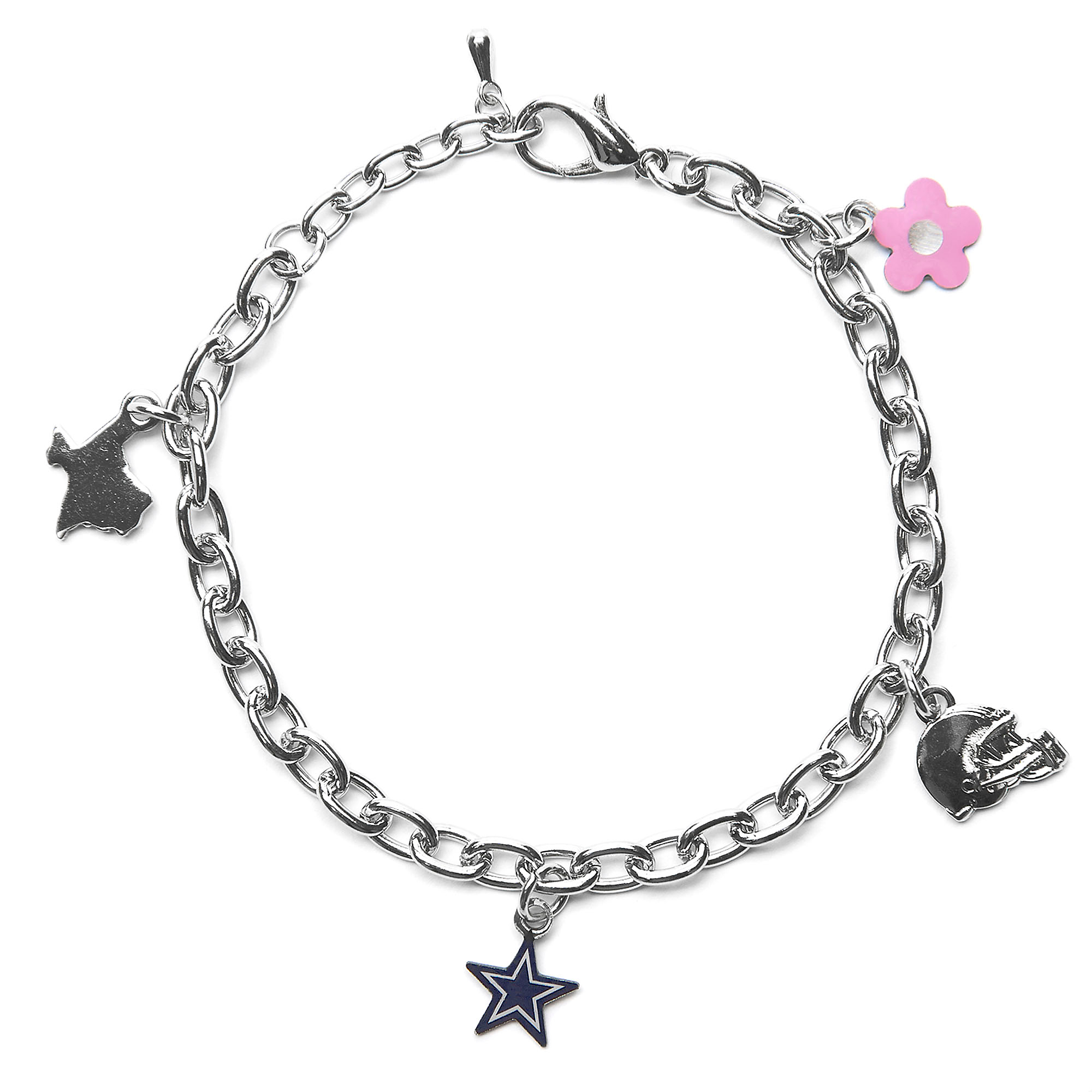 dallas cowboys kids 4 charm bracelet fans united. Black Bedroom Furniture Sets. Home Design Ideas