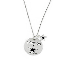 Dallas Cowboys Shine On Disc Necklace