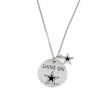 Dallas Cowboys Shine On Disc Necklace
