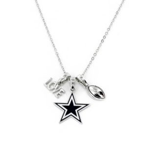 Dallas Cowboys Love Charm Necklace