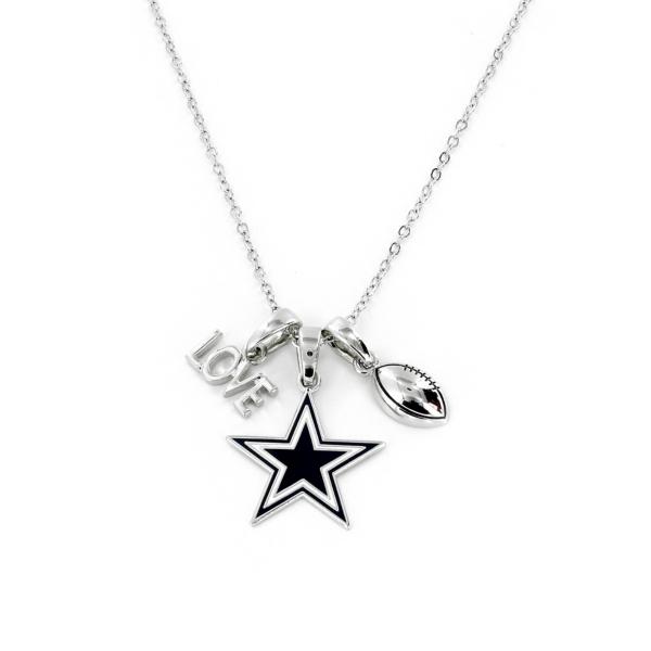 Dallas Cowboys Love Charm Necklace