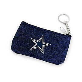Dallas Cowboys Textured Navy Sparkle Coin Purse