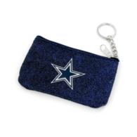 Dallas Cowboys Textured Navy Sparkle Coin Purse