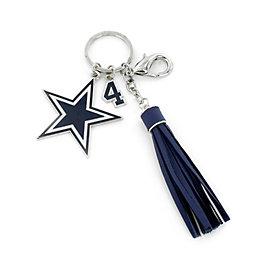 Dallas Cowboys Dak Prescott Tassel Key Tag