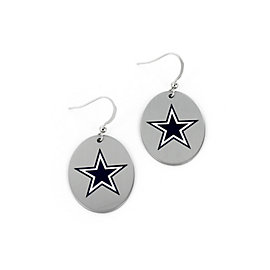 Dallas Cowboys Oval with Large Star Earrings