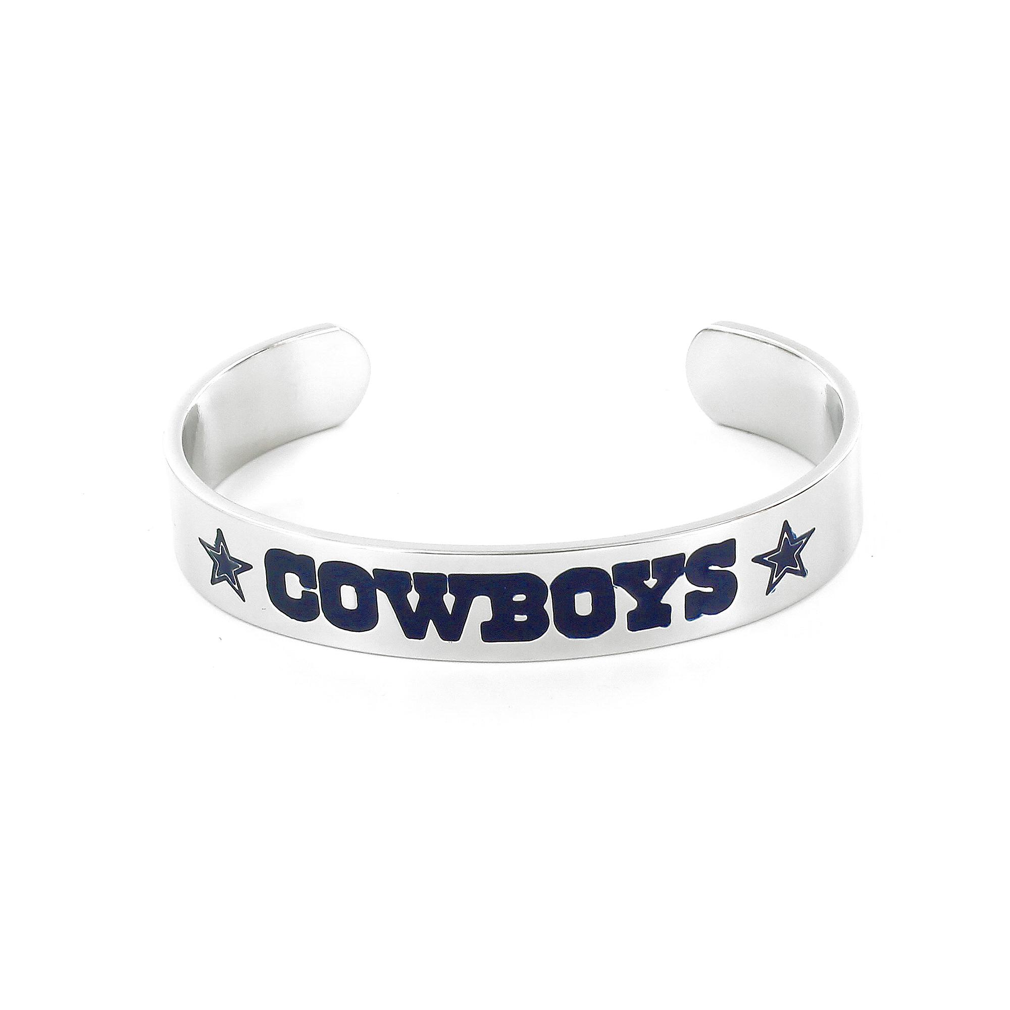 Dallas Cowboys Silver Cuff Bracelet