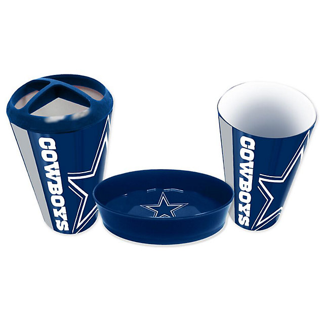 Dallas Cowboys 3 Piece Bath Accessory Set Home Office Accessories Catalog Pro