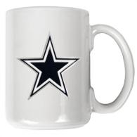 Dallas Cowboys 15 oz. White Ceramic Coffee Logo Mug