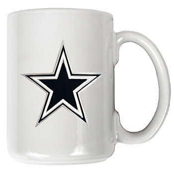 Dallas Cowboys 15 oz. White Ceramic Coffee Logo Mug