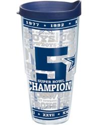 Dallas Cowboys Tervis 5-Time Champions 24 oz Tumbler