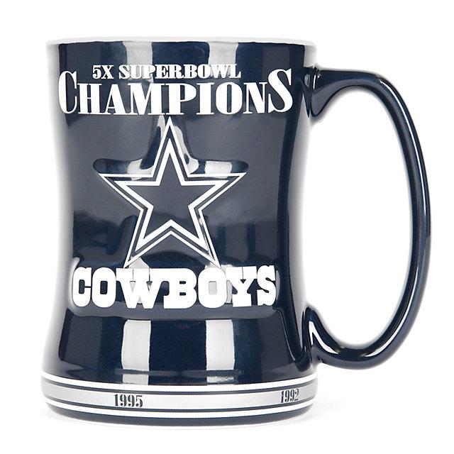 Dallas Cowboys Sculpted 5-Time Champs Mug