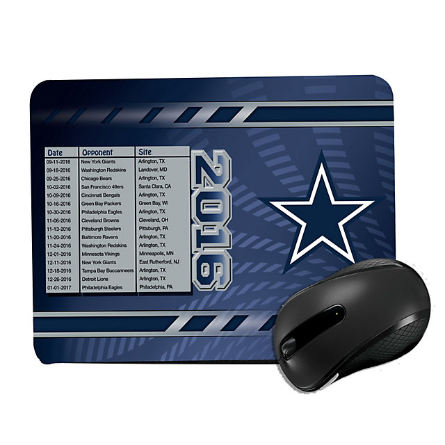 Dallas Cowboys 2016 Schedule Mouse Pad