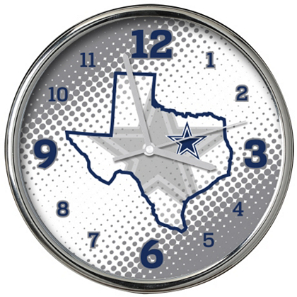 dallas cowboys state of mind chrome clock home decor home
