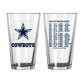Dallas Cowboys 2016 Schedule Pint Glass