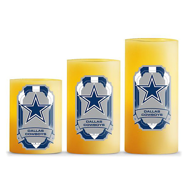 Dallas Cowboys Led Light Candles Home Decor Home
