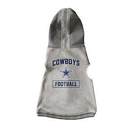 Dallas Cowboys Grey Pet Hooded Crewneck XL-2XL