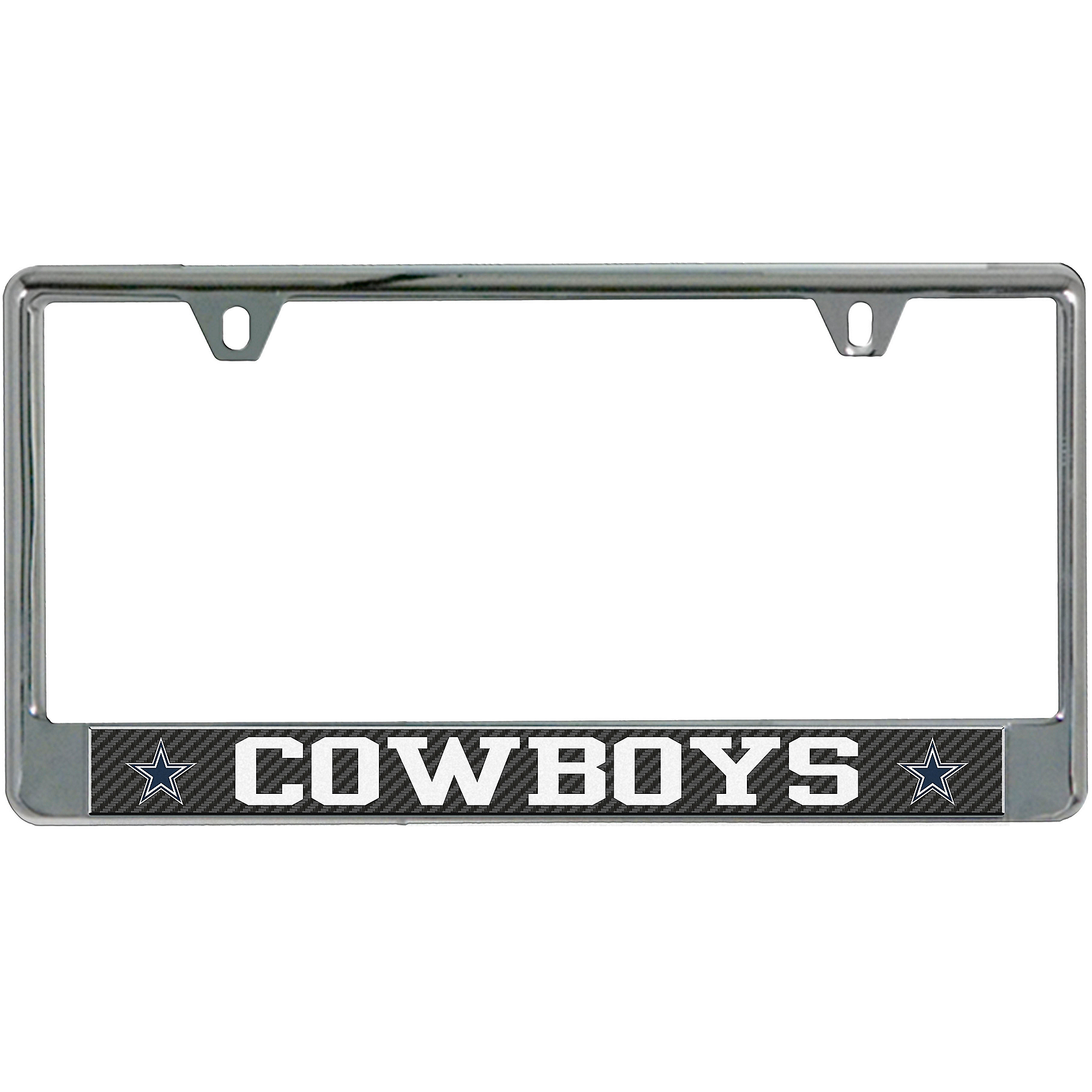 Dallas Cowboys Carbon with Logos License Plate Frame