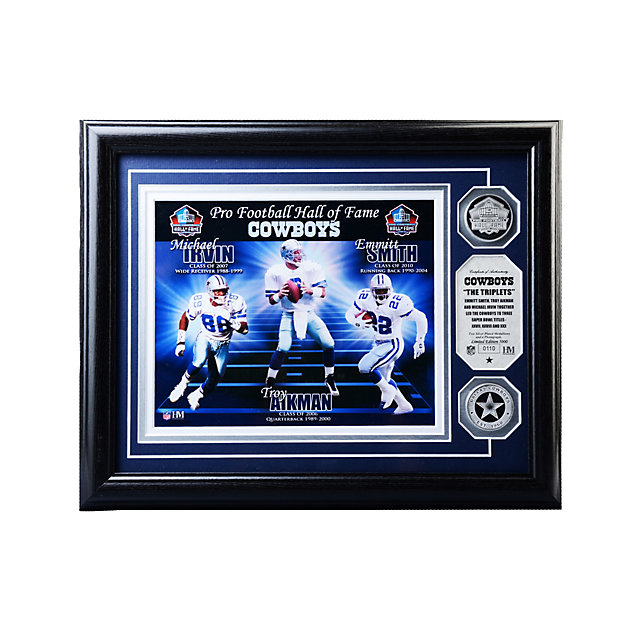 Dallas Cowboys Triplets Silver Coin Photo Mint