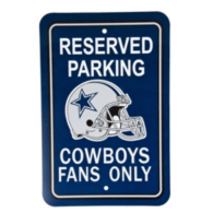 Dallas Cowboys Reserved Parking Sign