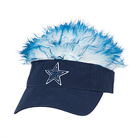 Dallas Cowboys Navy Visor Flair Hair