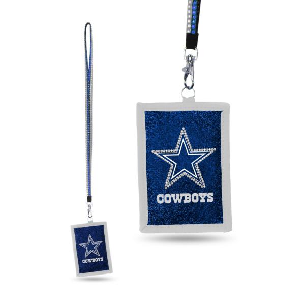Dallas Cowboys Beaded Lanyard ID Carrier