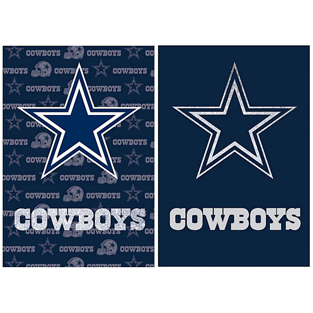 Dallas Cowboys Suede Glitter 2-Sided Flag