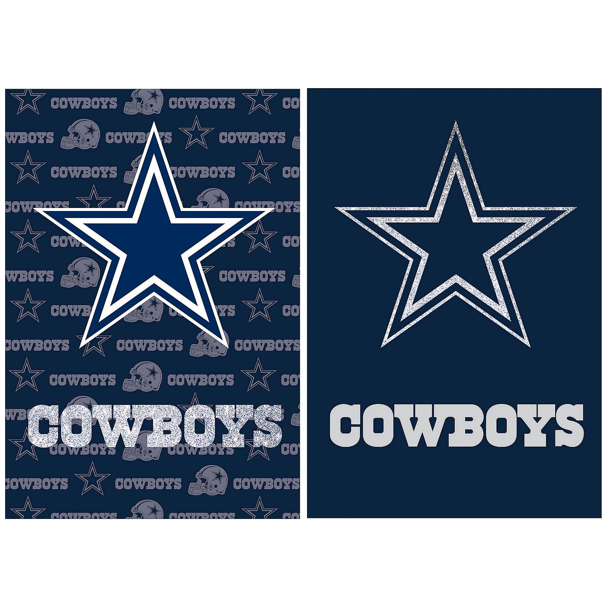 Dallas Cowboys Suede Glitter 2-Sided Flag