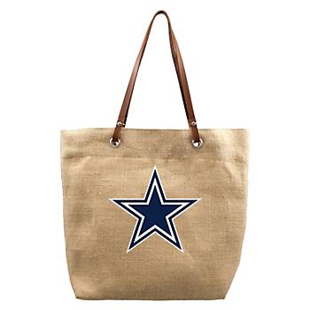 Dallas Cowboys Burlap Market Tote