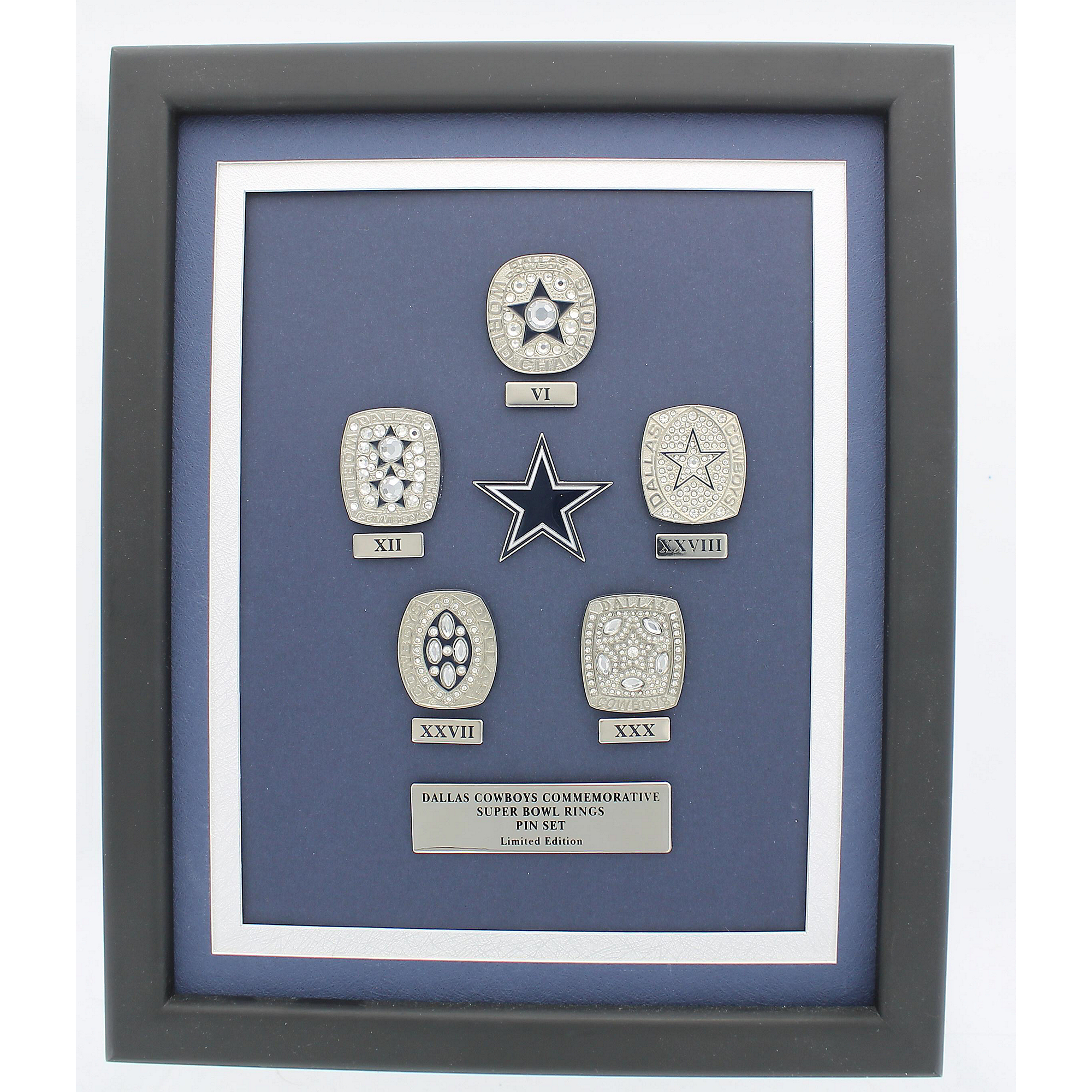 392533f60 Dallas Cowboys 5-Time Championship Ring Pin Set | Dallas Cowboys Pro ...