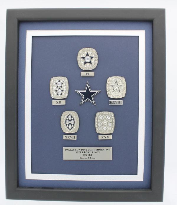 Dallas Cowboys 5-Time Championship Ring Pin Set