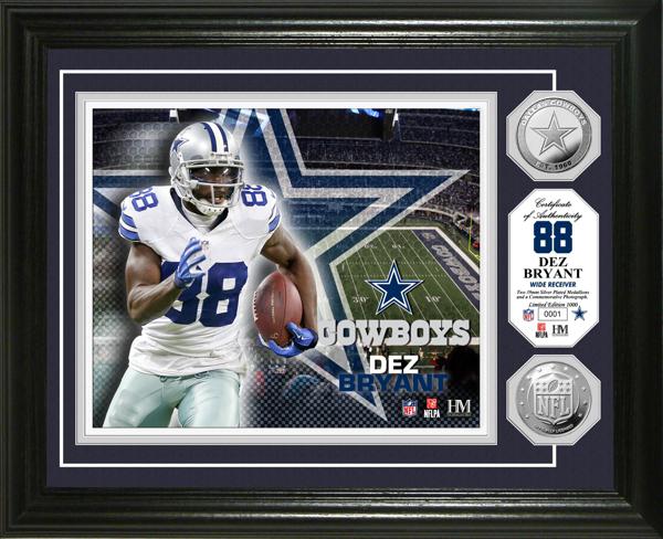 Dallas Cowboys Dez Bryant Silver Coin Photo Mint